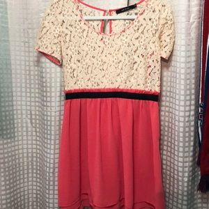 Coral dress perfect for summer time get togethers